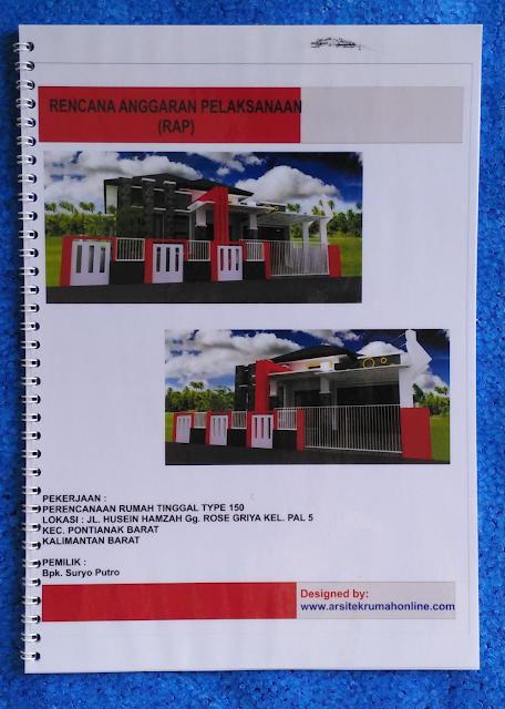 Pencanaan Desain Rumah Type 150 di Kecamatan Pontianak- Kalimantan Barat