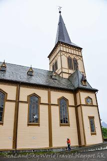 挪威,  羅浮敦群島, lofoten island, norway, Kabelvåg Church