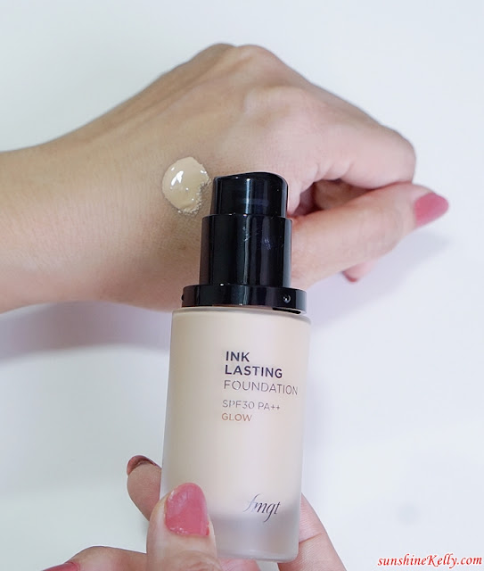 Ink Lasting Foundation Glow Fit, The Face Shop, Ink Lasting Foundation, Slim Fit, Glow Fit, Beauty Review, Foundation Review, Beauty