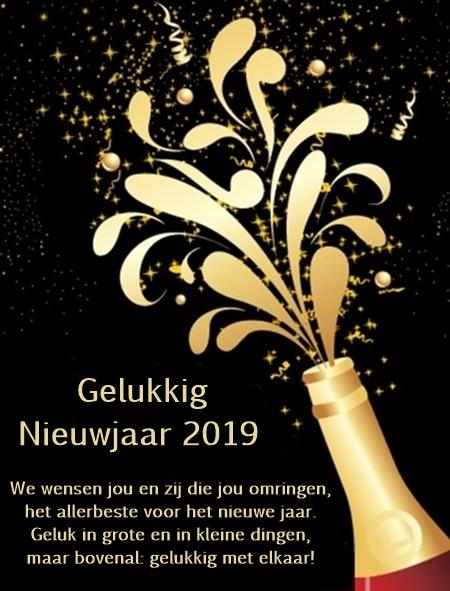 Gelukkig Nieuwjaar 2019 gratis nieuwjaarskaarten downloaden
