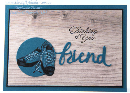 #thecraftythinker, #cardmaking, #saleabration, #masculinecard, #stampinup, Sale-A-Bration, Epic Celebrations, Lovely Words, Stampin' Up! Australia Demonstrator, Stephanie Fischer, Sydney NSW