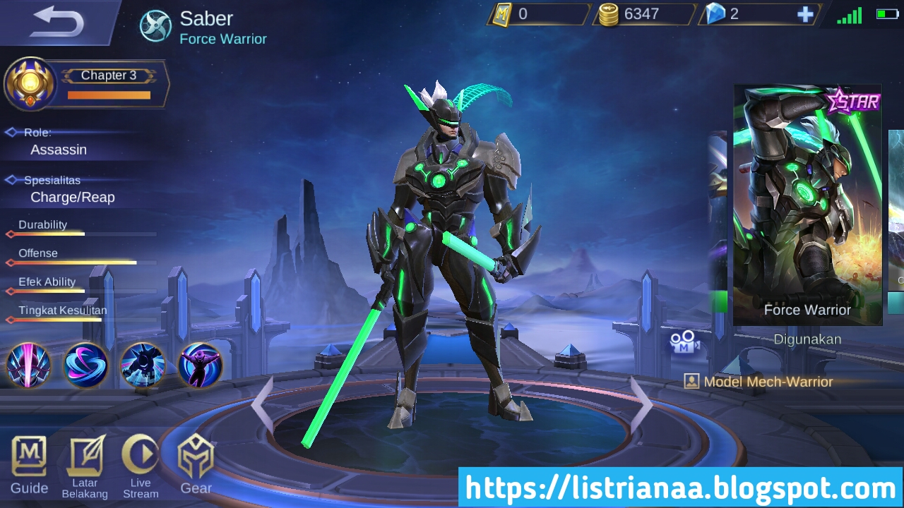 Keren Banget Skin Starlight Saber Sudah Bisa Digunakan Mobile Legends 5
