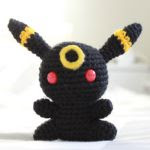 PATRON GRATIS UMBREON POKEMON AMIGURUMI