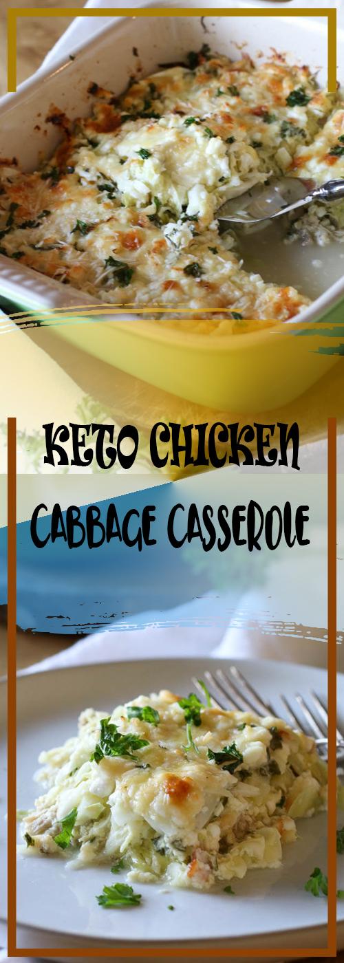 KETO CHICKEN CABBAGE CASSEROLE RECIPE