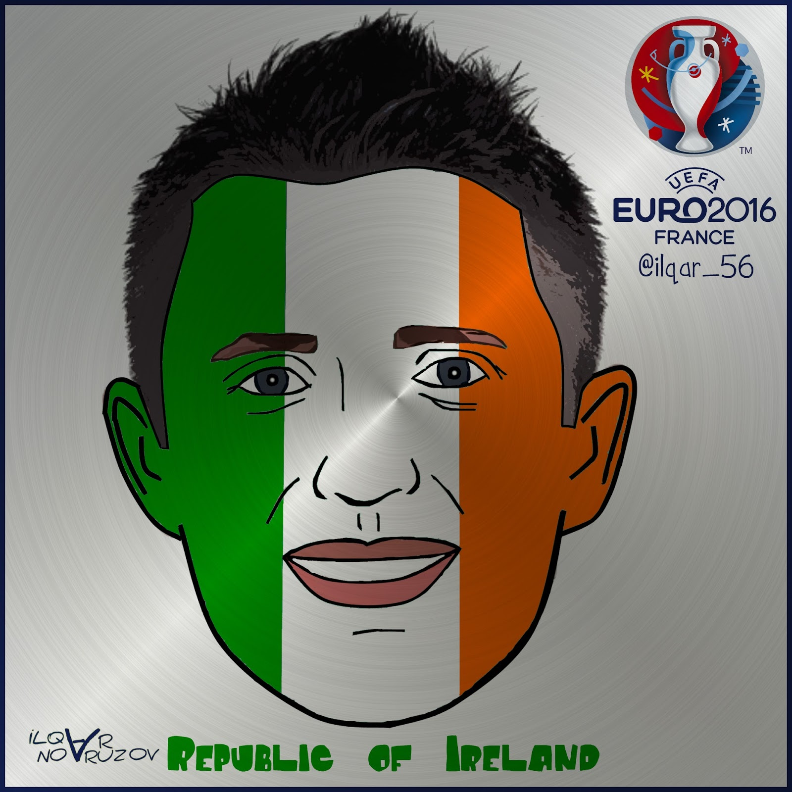 Republic Of Ireland V Azerbaijan: Ilqar Novruzov Cartoon: EURO 2016 Republic Of Ireland