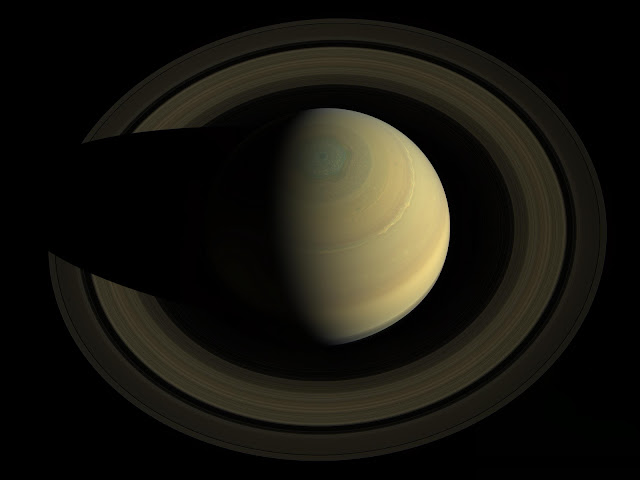 Saturn seen by Cassini spacecraft