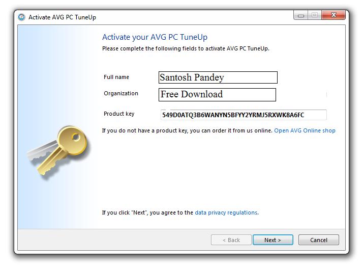 avg pc tuneup free product key 2014