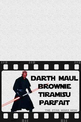 Free Printable Star Wars Party - Darth Maul Brownie Tiramisu Parfait
