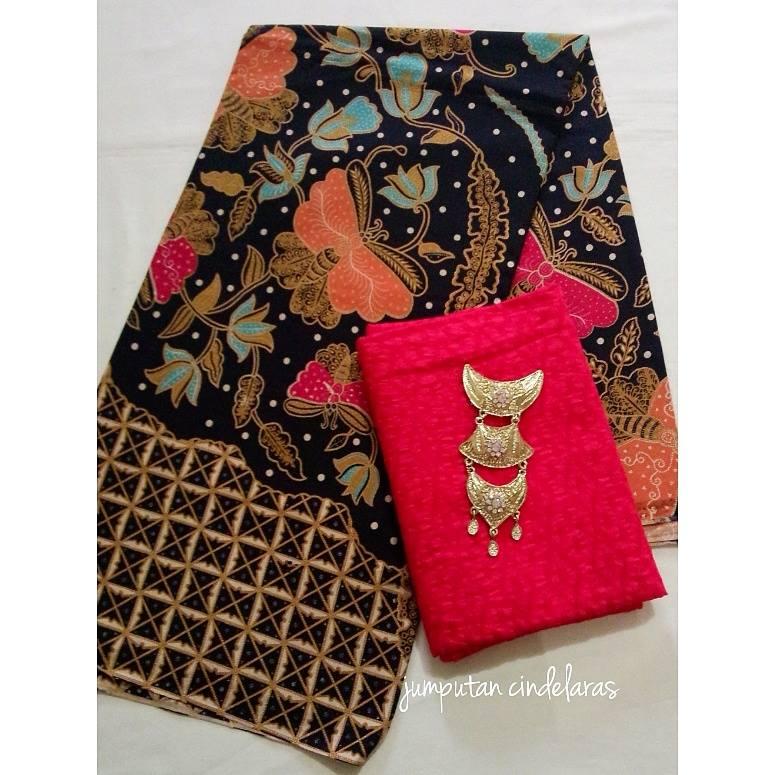 Kain Batik Printing Katun Embos