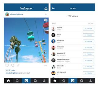 instagram video count feature