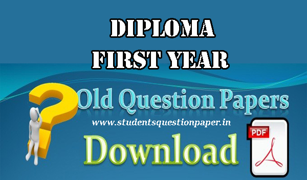 Diploma First Semester Engineering chemistry -1 Question paper Free Download