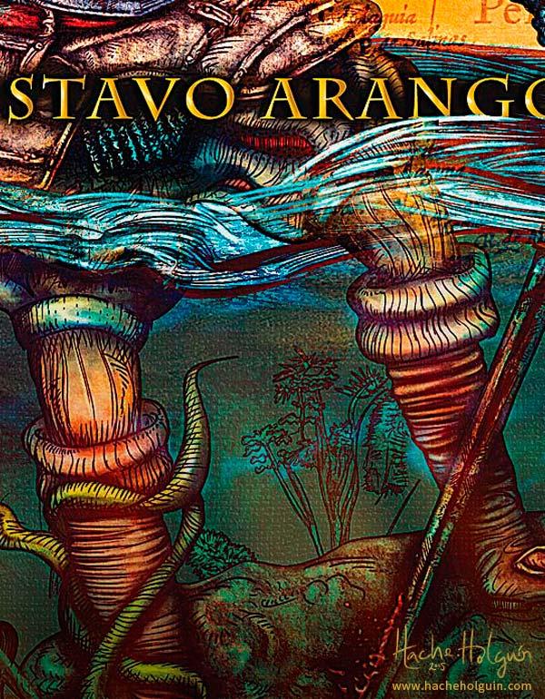 Detalle de ilustración de portada del libro Santa María del Diablo