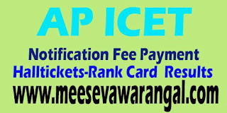 AP ICET Online Application Form 2016