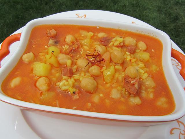 Potaje de invierno al azafrán Ana Sevilla cocina tradicional