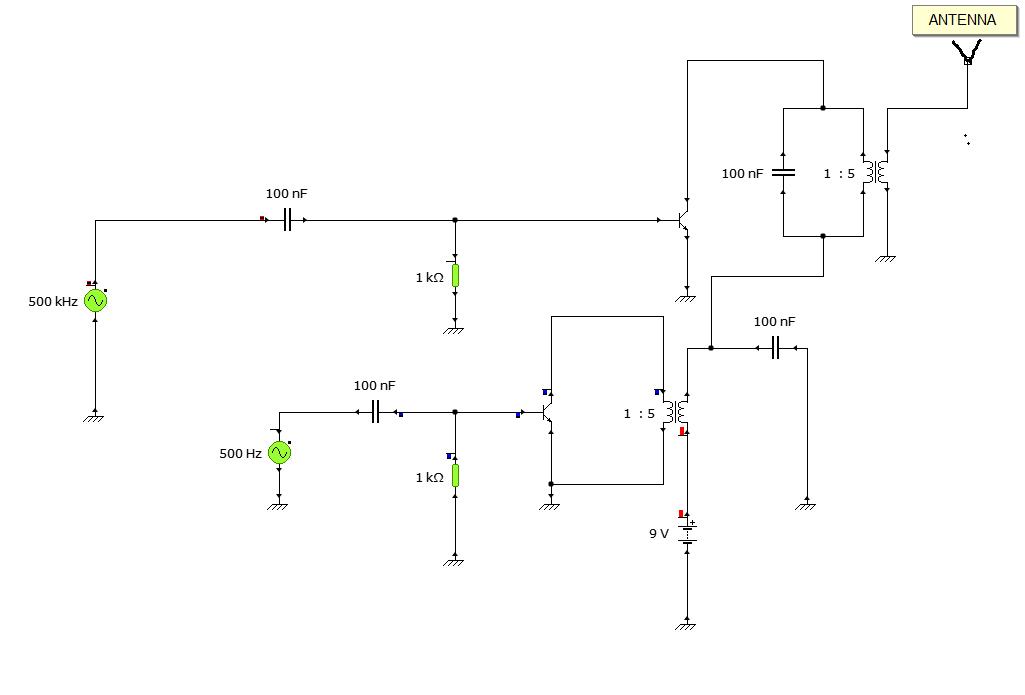 Conceptual AM Modulation Circuit Diagram