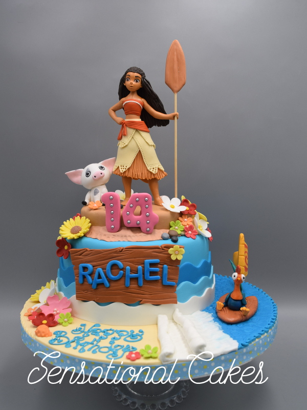 The Sensational Cakes Hawaiian Princess Moana and friends piglet