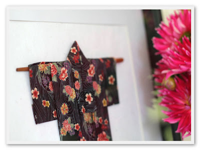 design paper scissors: wall art  japanese kimono