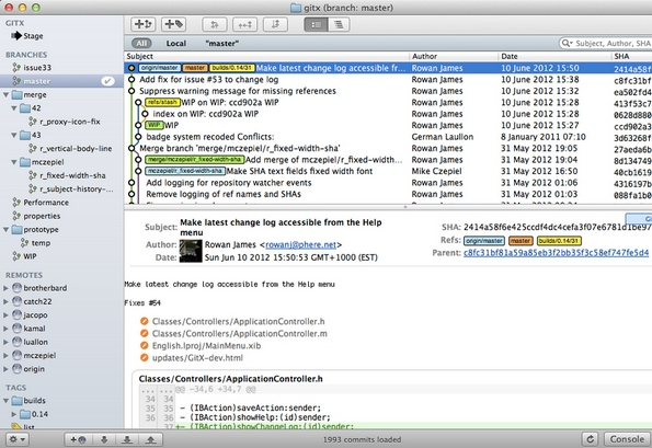 GitX-dev Git client for Mac platform