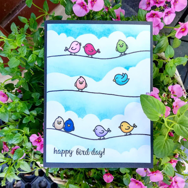 Sunny Studio Stamps: A Bird's Life Customer Card Share by S Byskov Design