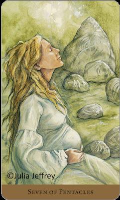 Tarot of the Hidden Realm Julia Jeffrey Seven of Pentacles 1