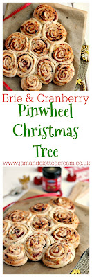 Festive Brie and Cranberry Pinwheel Christmas Tree