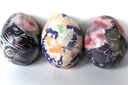 "How to 'Dye"" Easter Eggs With Silk Ties"