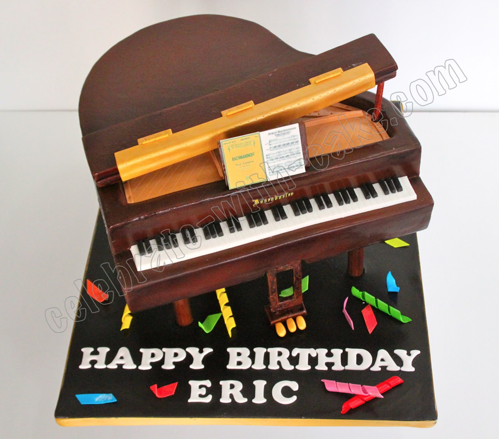 Celebrate With Cake!: Brown Grand Piano Cake
