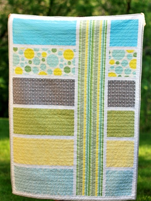 Modern Baby Quilt from Bijou Lovely