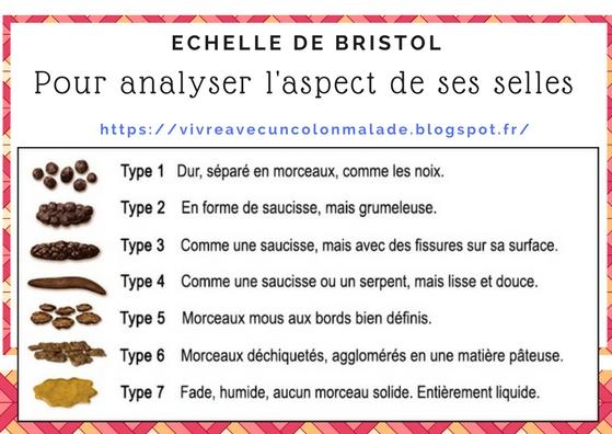 échelle de Bristol analyse aspect selles