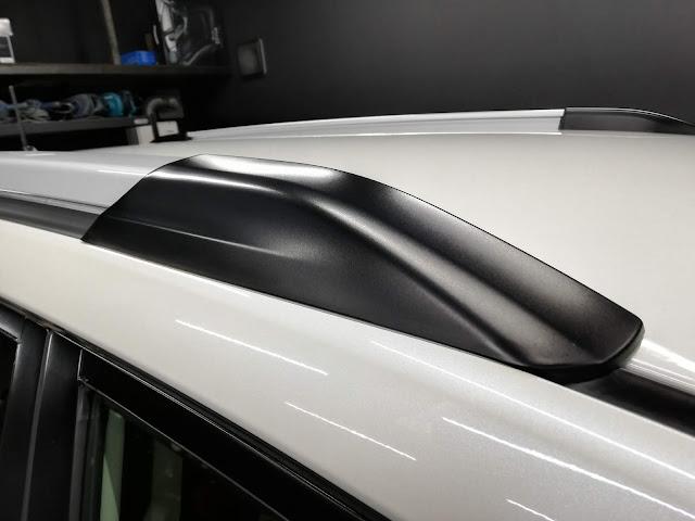スバル/エクシーガクロスオーバー7 樹脂硬化型ボディコーティング【Ω/OMEGA】+樹脂・クラッディングパーツ劣化防止保護コーティング ルーフレール