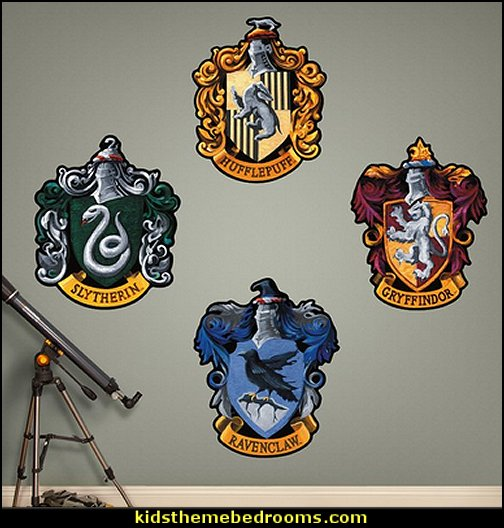 Harry Potter Hogwarts House Sigils Peel and Stick Wall Decal