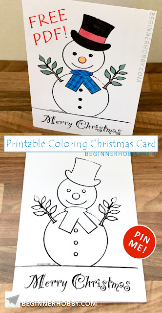 A pin showing 2 Snowman Christmas Cards next to each other
