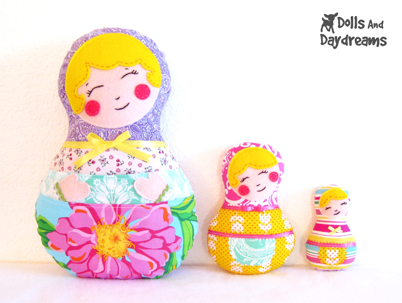 Dolls And Daydreams - Doll And Softie PDF Sewing Patterns: Babushka ...