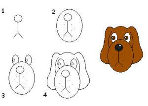 How To Draw Cartoon Dog Face