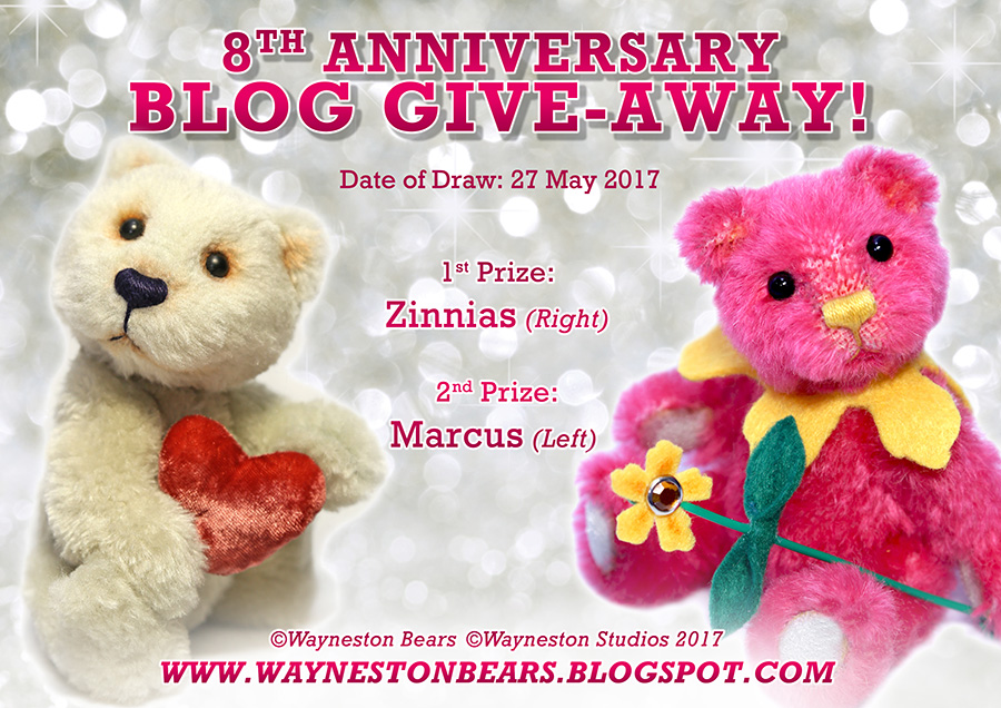 Wayneston Bears 8th Anniversary Blog Give-away