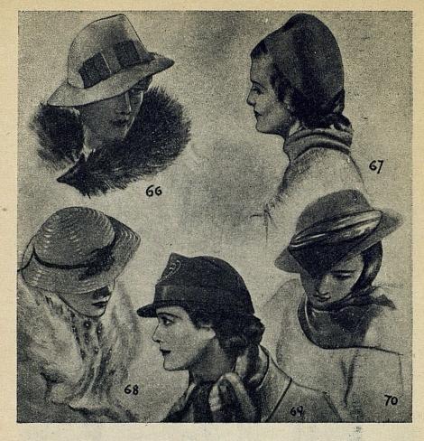 Модные женские шляпки 1937 г