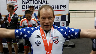 Dennis Pedersen in team sprint National Champion's jersey.