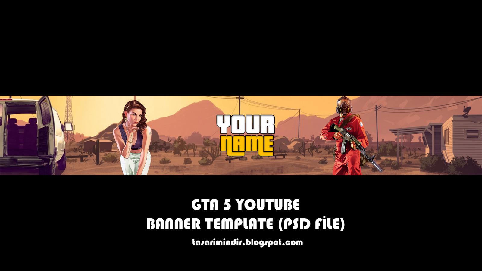 GTA 5  Youtube Banner Template