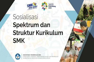 Sosialisasi Spektrum dan Struktur Kurikulum SMK Revisi 2018