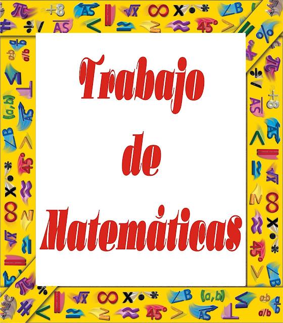 portadas para trabajos de matemáticas, decoraciones para portadas de matemáticas