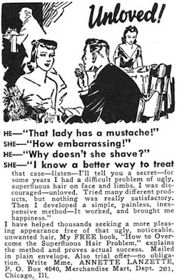 Unloved - That lady has a moustache