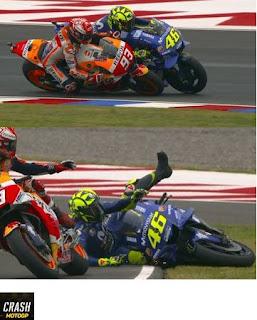 Rossi vs Marquez MotoGP Argentina 2018