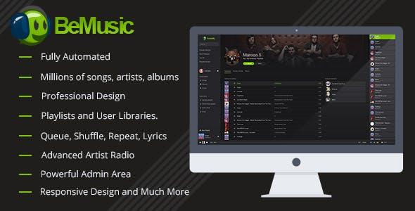 CodeCanyon - BeMusic v2 3 4 - Music Streaming Engine » Codenrox