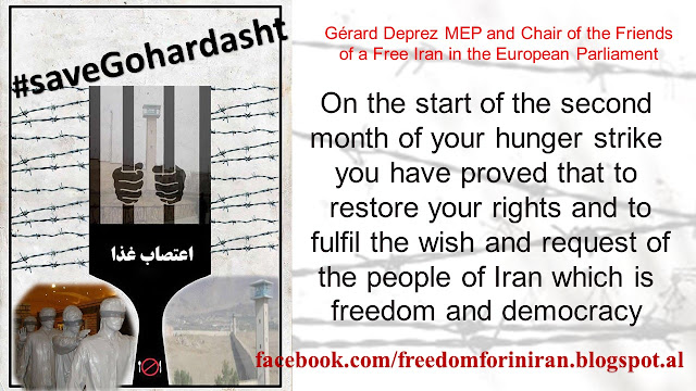 Gérard Deprez MEP and Chair of the Friends of a Free Iran in the European Parliament, send a letter to the hunger striking political prisoners in Iran,