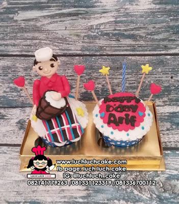 Cupcake Isi 2 Untuk Anak Cowok, Pacar, Suami, Ayah