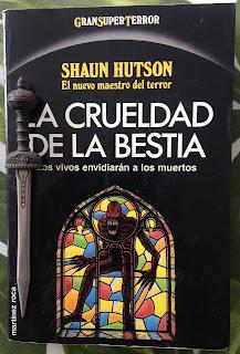 Portada del libro La crueldad de la bestia, de Shaun Hutson