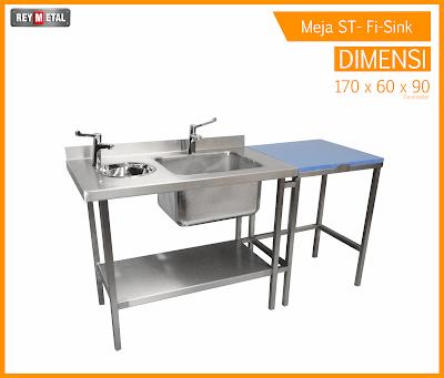 Harga meja dapur stainless khusus daging plus sink for Jual kitchen set stainless steel