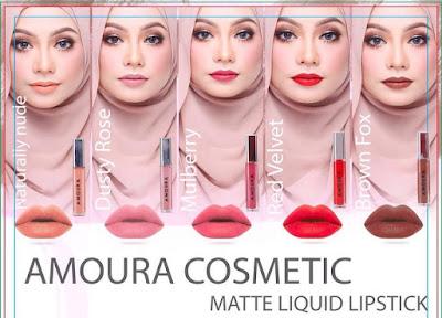 Amoura Cosmetics - Lipstik Matte Mesra Wuduk