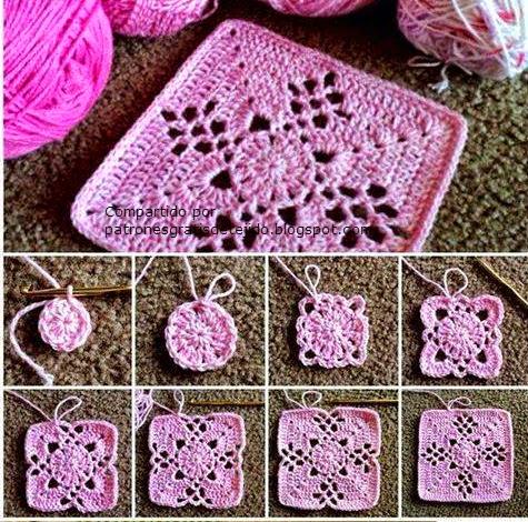 Paso a paso crochet square