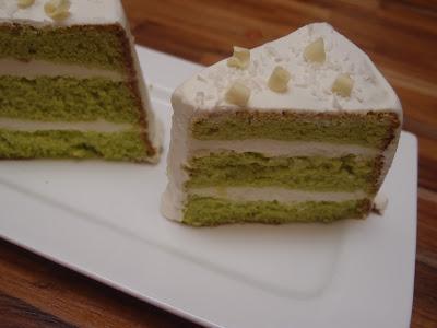Coconut Pandan Chiffon Cake
